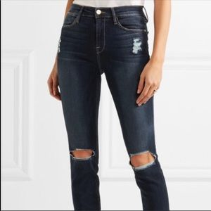 Frame Le High Skinny Distressed Jean